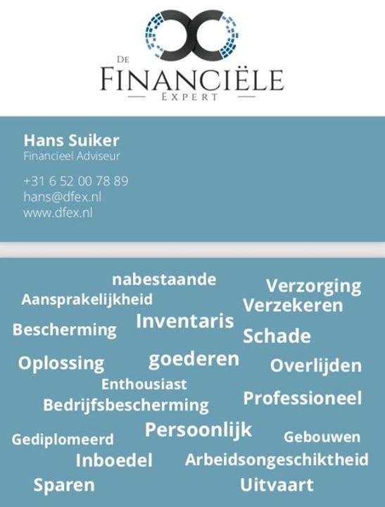 Vanaf vandaag een samenwerking gestart met Hans Suiker, heb er alle vertrouwen i...